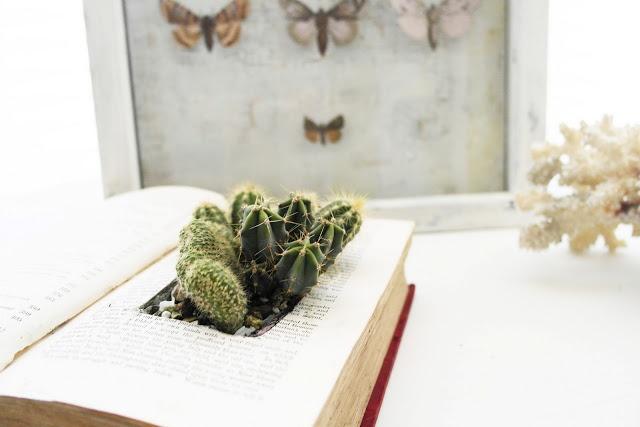 ..Twigg studios: old book turned planter tutorial