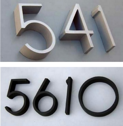 17 best images about house numbers on pinterest rocky for Big modern house numbers