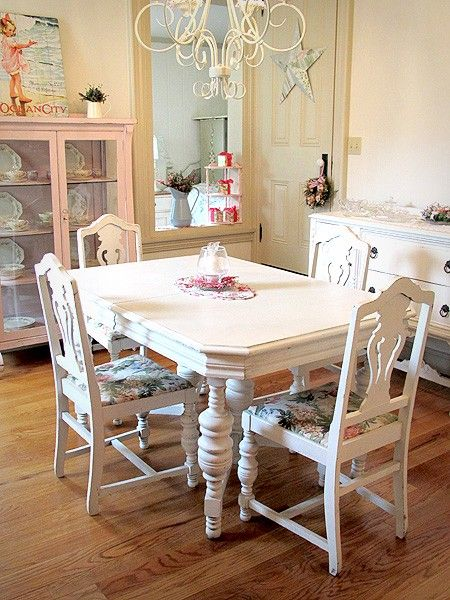322 Best Shabby Chic ~ Diningroom Images On Pinterest  Dining Inspiration Shabby Dining Room Design Decoration