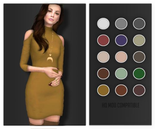"""volatile-sims: """"  Prune Dress Full New Mesh, 15 swatches (HQ MOD compatible) DOWNLOAD HERE  Thanks to @carlinvauses for testing! You are such a nice person  """""""