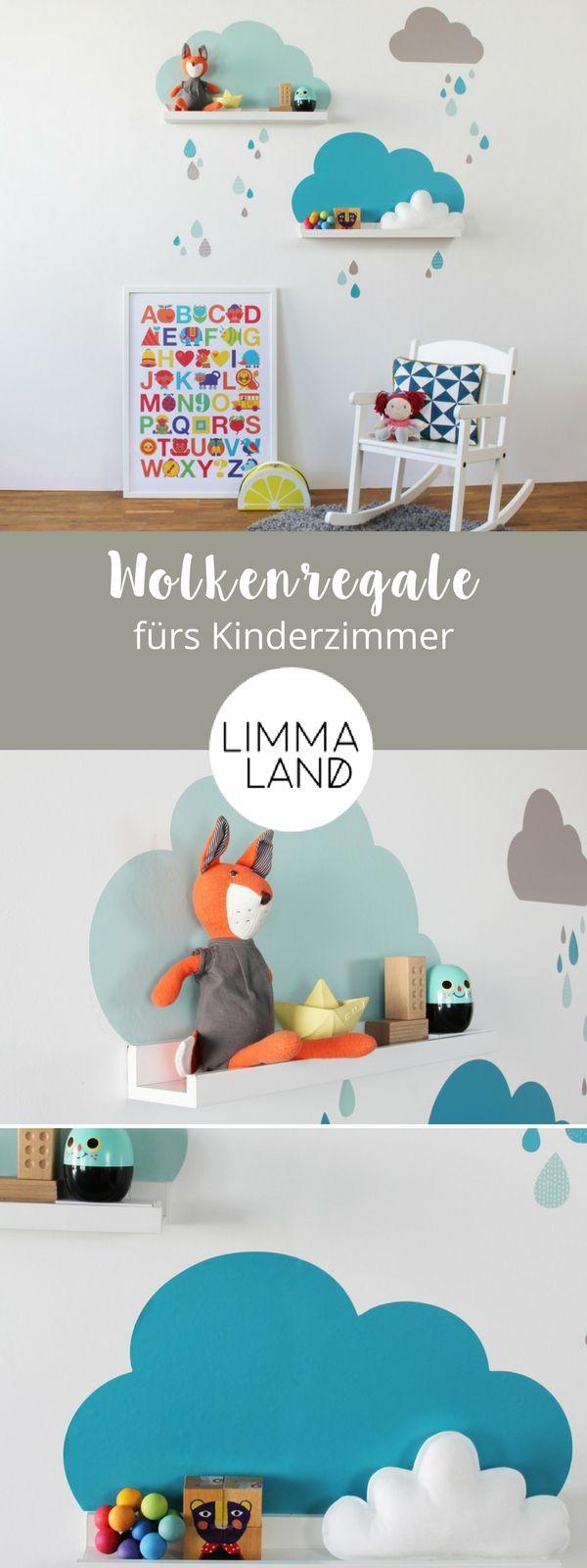 Elegant IKEA Hack f r Kinder Bilderleisten mit Wolken Wandtattoos pimpen und eine tolle Stimmung ins Kinderzimmer zaubern IKEA Hack f r Kinder im stylischen Mint