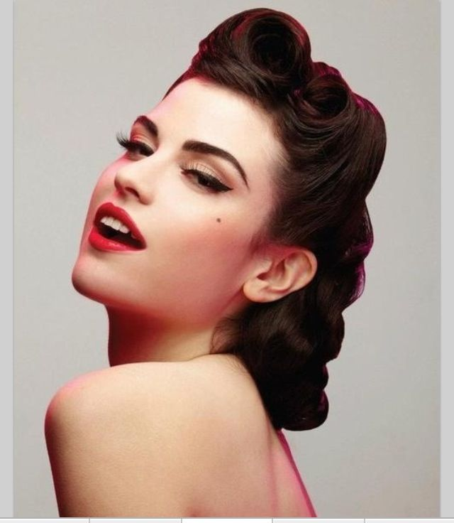 40s hair style love the make up too