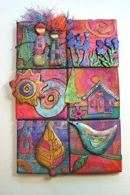 a Mused Studio: Polymer Clay Tile Assemblage- with a little Moxie