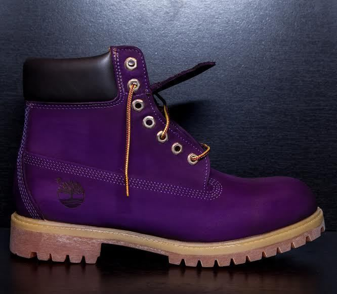 """SYCAMORE STYLE Custom Dyed """"Eggplant"""" Purple Timberland Boots #Timberland #ConstructionBoot"""