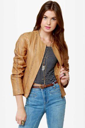 BB Dakota Antonia Jacket - Buckskin Jacket - Leather Jacket - $306.00
