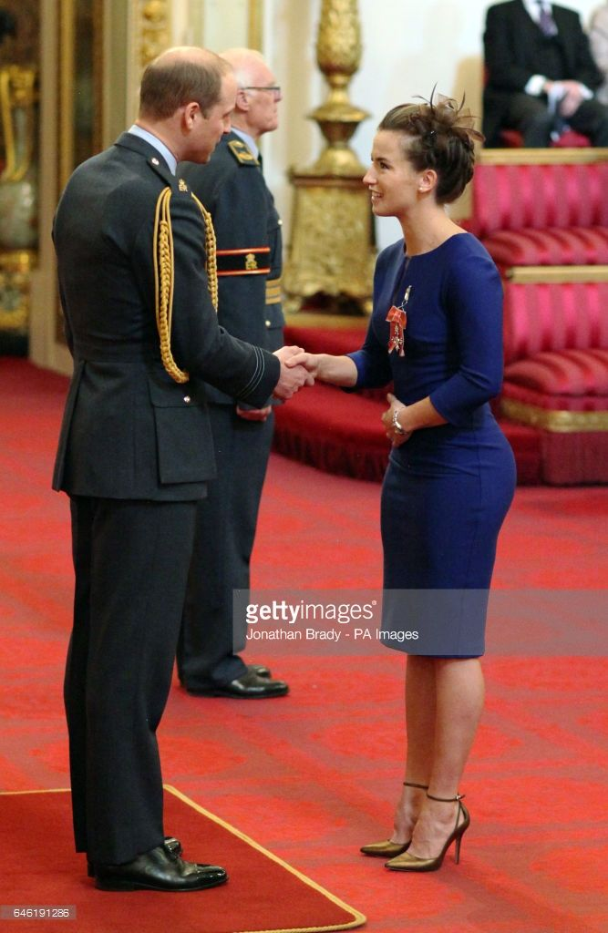 Maddy Hinch from Maidenhead, a member of Britain's Olympic gold medal-winning women's hockey team, is made an MBE (Member of the Order of the British Empire) by the Duke of Cambridge at Buckingham Palace.
