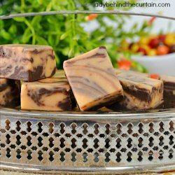 chocolate and orange marble fudge