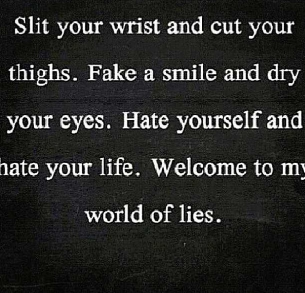 Depression Cutting Quotes: 17+ Images About Self Harm/ Depression/ Suicide/ Quotes On