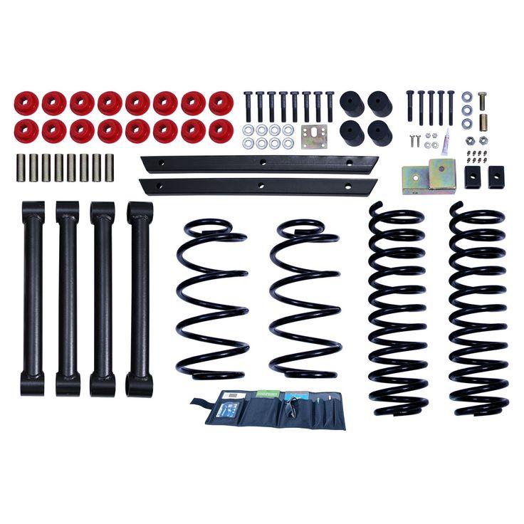 2 Inch Lift Kit without Shocks; 03-06 Jeep Wrangler TJ