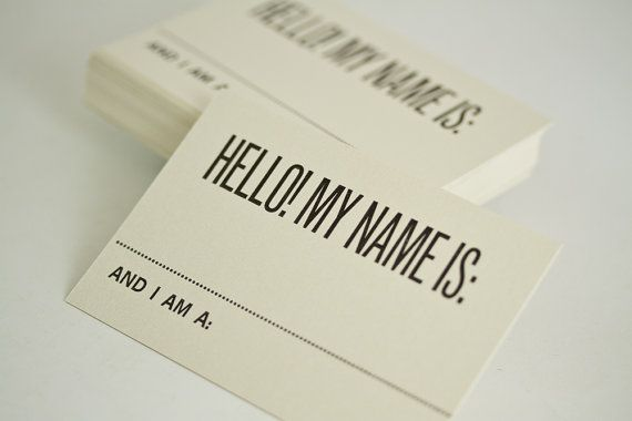 Graphic Design Business Name Ideas graphic design and marketing ideas Letterpress Name Tags By Josh Korwin