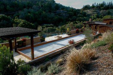 Orinda Sports Complex & Carriage House - mediterranean - Landscape - Other Metro - Young & Burton, Inc.