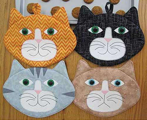 Add some fun and color to your kitchen decor with these adorable hot pads.