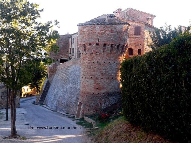 Loretello Kasteel, Arcevia, Le Marche, Italië