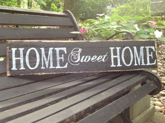 Lovely Handmade home sweet home sign by Cynthiaswoodensigns, $18.50