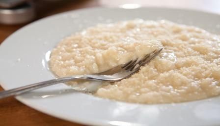 Risotto alla parmigiana.Master the art of Italian simplicity, with Simon Hopkinson's recipe for risotto alla Parmigiana.