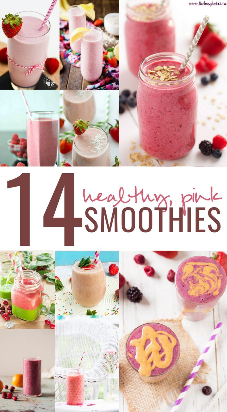 Here are 14 healthy, pink & completely drool worthy smoothies