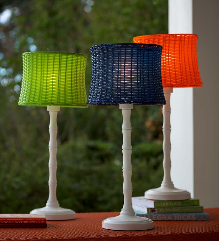 Outdoor Wicker Table Lamp | Outdoor Lighting
