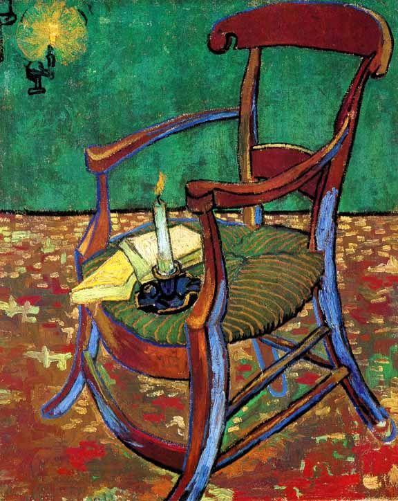 Vincent Van Gogh - Post Impressionism - Arles - Le fauteuil de Paul Gauguin - Gauguin's Armchair.