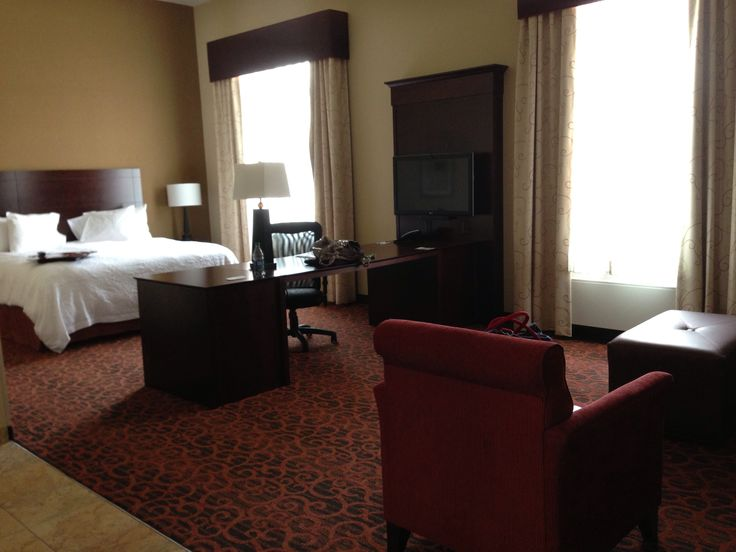 Marquette Hampton Inn - an upgrade. Absolutely big room.