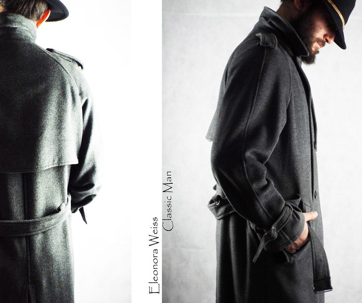 Classic Man Trench in loden seta unisex