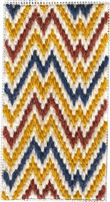 Jan/Feb 2005 - Bargello Project - Scissor Case with 2 sides - Flame Stitch and Hungarian Stitch - modified renaissance patterns