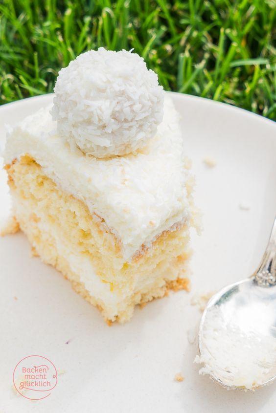 Die Füllung auf Tarteletts?? Backen macht glücklich | Einfache Raffaello-Torte ohne Gelatine | http://www.backenmachtgluecklich.de