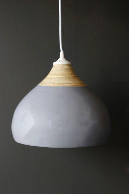 Glazed Bamboo Pendant Lamp