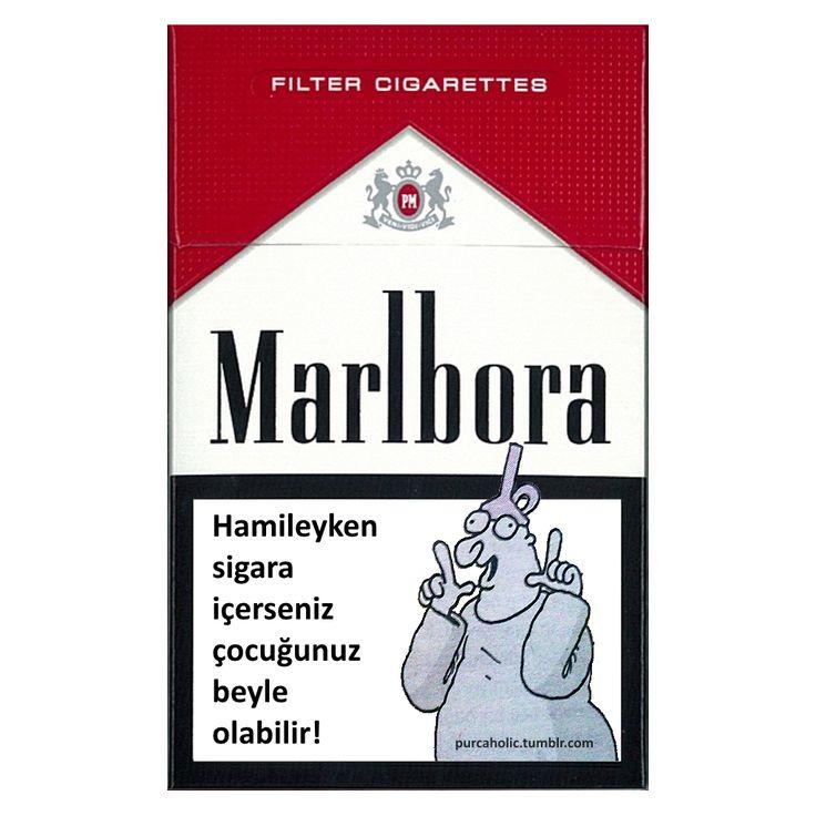 Marlbora: Hamileyken sigara içerseniz çocuğunuz beyle olabilir!  #karikatür #mizah #matrak #komik #espri #şaka #gırgır #sigara #hamilelik #hunili