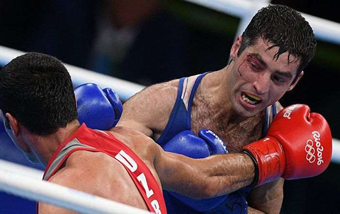 Russia's flyweight boxer Misha Aloyan was beaten by Shakhobidin Zoirov from…