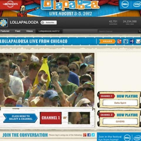 Can't attend the Lollapalooza Music Festival? YouTube's got you covered. The video-sharing website partnered up with Dell to  live stream free coverage of the annual alternative...