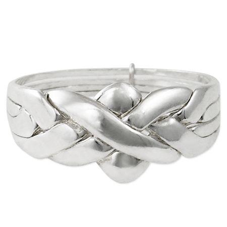 Turkish wedding Ring in silver with four bands #turkishweddingring #fedeturca #fedelibanese