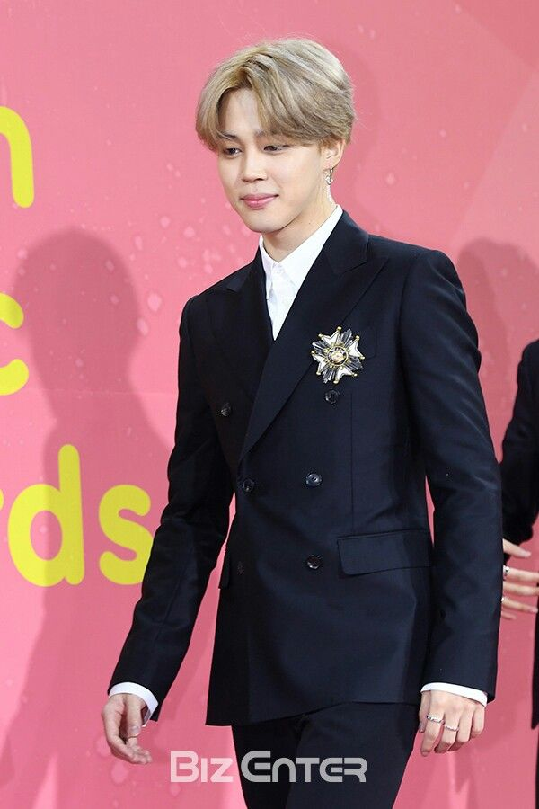 171202 Mma Bts Red Carpet Jimin Music Awards 2017 Double Breasted Suit Jacket Jimin