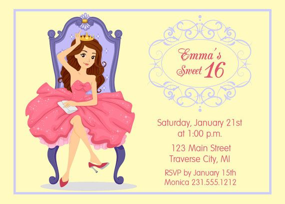 126 best Kids Birthday Party Invitations images – Printable 16th Birthday Invitations