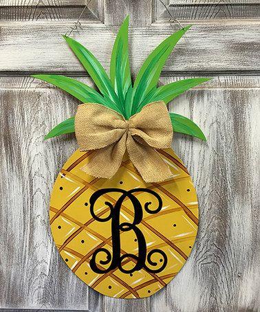 This Original Initial Pineapple Door Hanger is perfect! #zulilyfinds