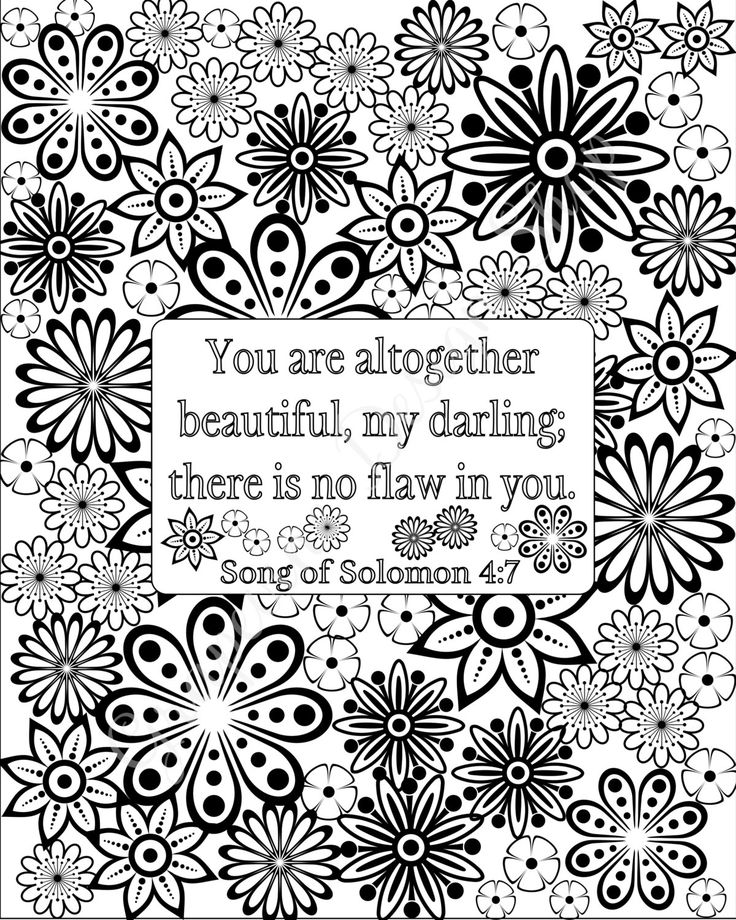 Coloring Book Bible Verses : Uplifting coloring pages hand drawn