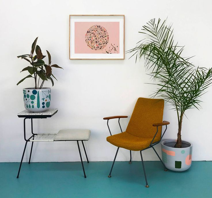 Peaches+Keen's Artwork And Painted Pots Full Tour On Design*Sponge