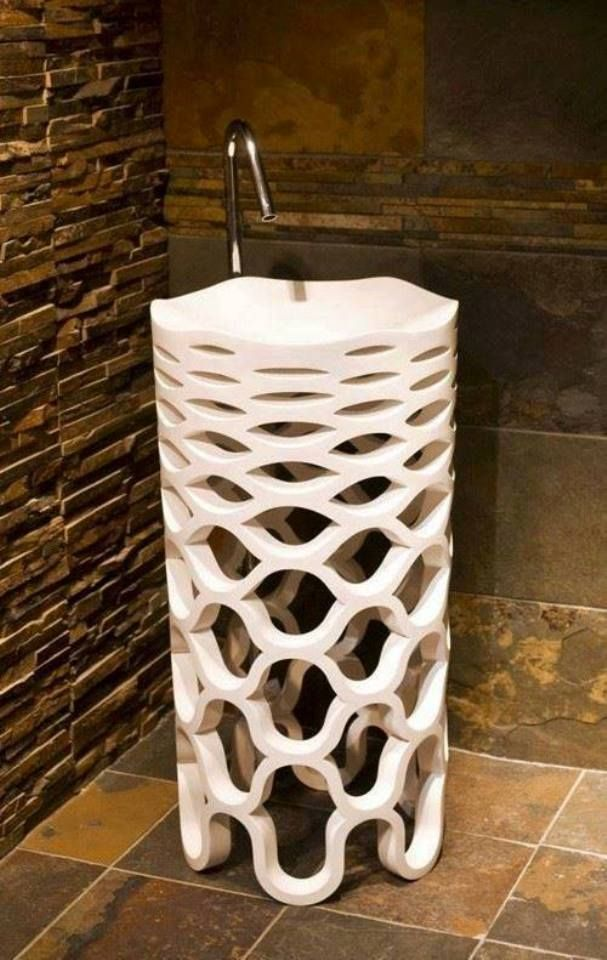 Cool Freestanding Sink Sirona by Marmorin