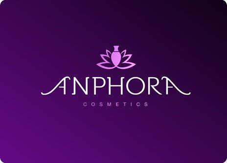 ANPHORA: Identidad corporativa para tienda de productos cosméticos y de peluquería. El logotipo representa un ánfora que surge entre las hojas de una planta.