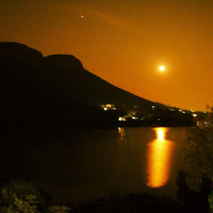 Full moon at the dam in Kosmos