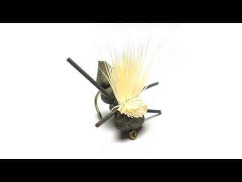 Baby Boy Hopper (Cricket) Fly Tying Instructions - YouTube