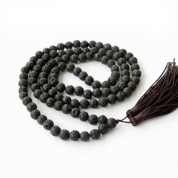 Yoga Beads: Tibetan Buddhist 108 Volcano Stone Meditation Yoga Prayer