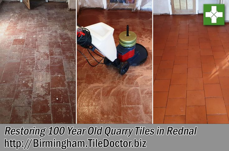 I was recently contacted by a home owner who had recently bought a property in Rednal which is a residential suburb on the south western edge of Birmingham near Bromsgrove. They were updating the flooring and discovered a quarry tiled floor under their living room carpet. The Quarry tiles were most likely original dating back 113 years and the owner was keen to have such an original feature restored.