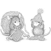 Stampendous HMCP12 Knit Gift - House Mouse - Cling Rubber £6.99