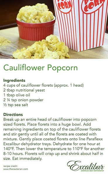 Scary #Movies & #Popcorn always go good together!  Create your own Tasty & #Healthy version with Excalibur Dehydrators!