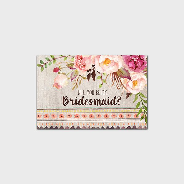 Rustic Will You Be My Bridesmaid Invitation Printable Bohemian Will You Be My Bridesmaid Boho Bridesmaid Invite Floral 4x6 Instant Download by MossAndTwigPrints on Etsy