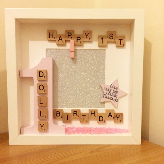 1st birthday photo frame personalised gift