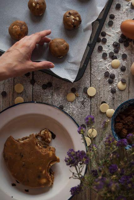 La asaltante de dulces: Receta de galletas doble chips/ Double chocolate chips cookies recipe