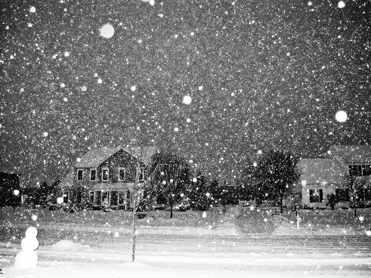beautiful snow scenes | Snow Scene At Night Photograph by Jeanette Oberholtzer - Snow Scene At ...
