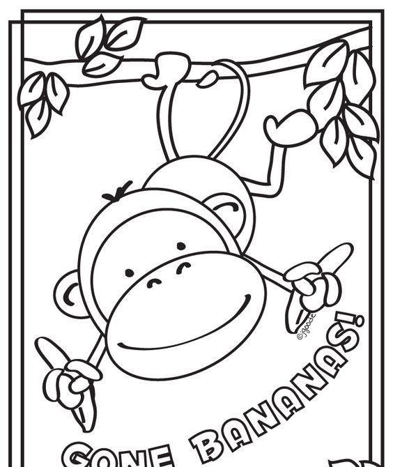 Okul öncesi Maymun Boyama Sayfası Galeri Coloring Pages Monkey