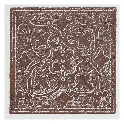 """Achim Importing Co Nexus Accent Self Adhesive 4"""" x 4"""" Vinyl Wall Tile in Burgundy"""